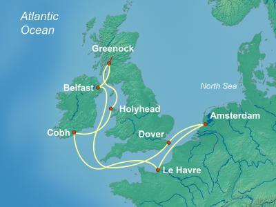 שייט לאיים הבריטיים מאמסטרדם | Brilliance of the Seas