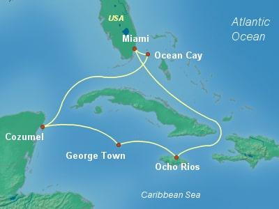 קרוז ממיאמי | MSC Seaside | שייט ממיאמי | שייט בקריביים