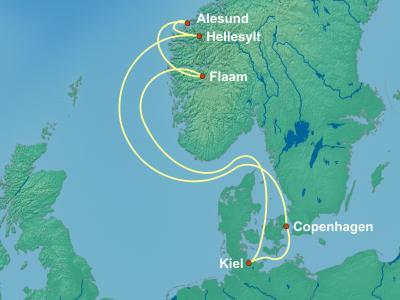 שייט בפיורדים | שייט בפיורדים מקופנהגן | MSC Meraviglia