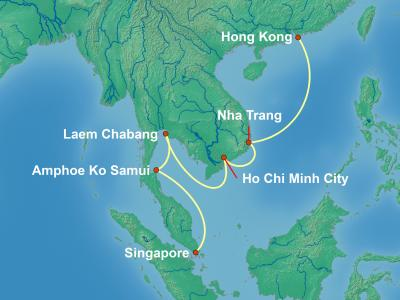 שייט מהונג קונג לתילאנד וויאטנם