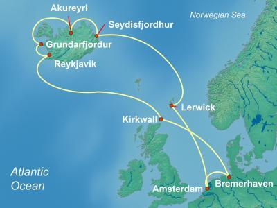 הפלגה לאיסלנד מאמסטרדם