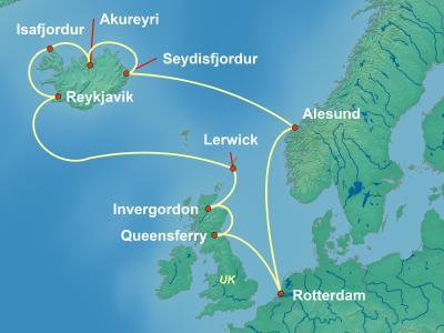 שייט מאורגן לאיסלנד וסקוטלנד