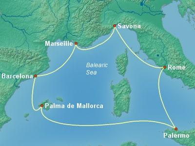 Costa Diadema-קוסטה דיאדמה | שייט בים התיכון
