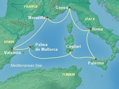 שייט בים התיכון מרומא   MSC Fantasia