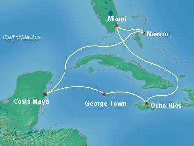 שייט לקריביים באנייה החדשה MSC Seaside