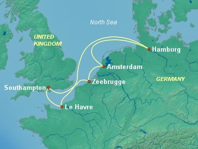 שייט לצפון אירופה באניית הפאר MSC Preziosa